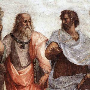 Platon og Aristoteles.
