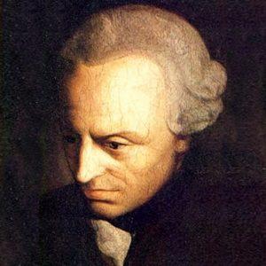 Maleri av Immanuel Kant.