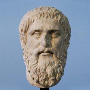 Statue av Platon.
